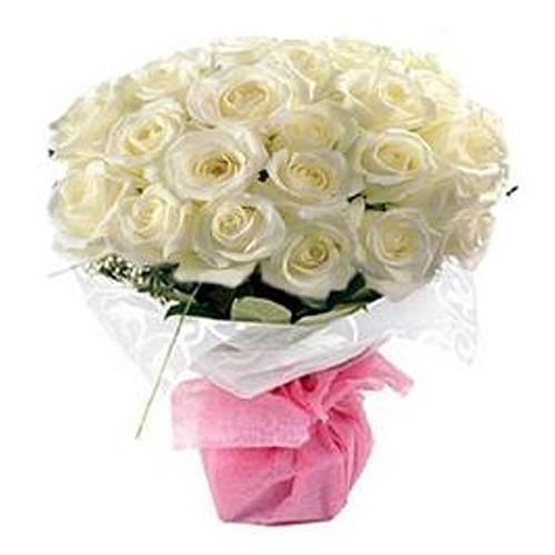 Delicate Bouquet of White Roses