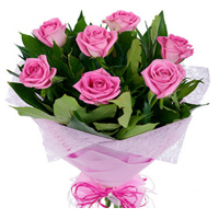 Beautiful Bouquet of Garden Fresh Pink Roses