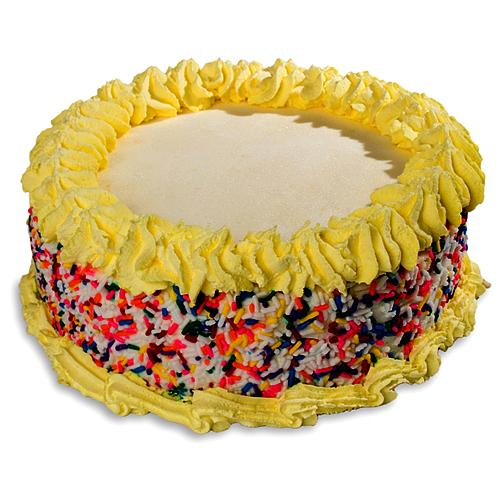 Glorious Cream-Coated Decorative Cake