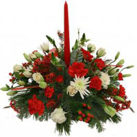 Glorious Floral Collection With Red Candle