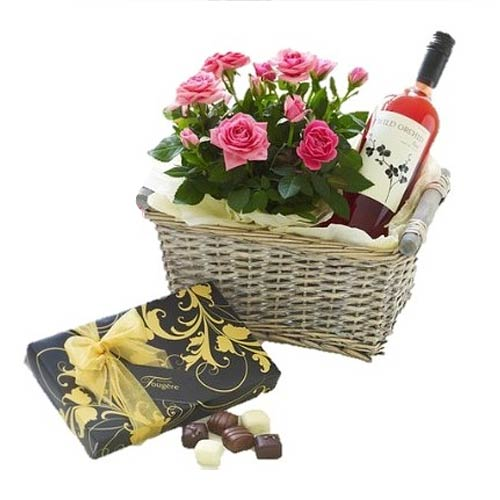Gorgeous Hampers with Flowers Gift Hamper