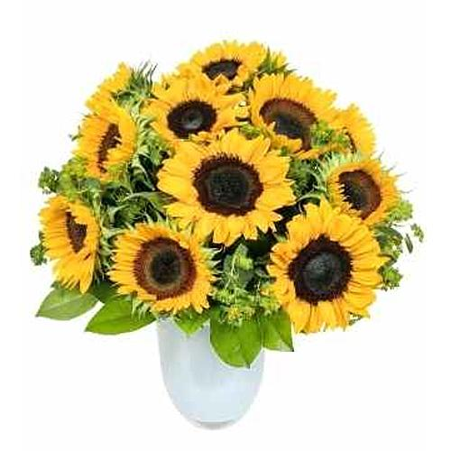 Sun-Kissed Sunflower Basket