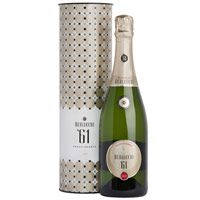 Excellent Bottle of Franciacorta Brut 61 Docg Berlucchi White Wine 75 cl. in Round Box