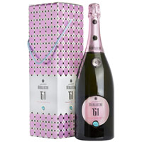 Deep Presentation of Magnum Franciacorta Brut Rose 61 Docg Berlucchi in Box