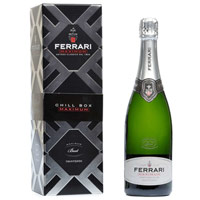 Sophisticated Single Bottle of Ferrari Maximum Brut Ferrari Wine (75 cl.)