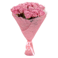 Visually Floral Arrangement of 21 Pink Roses