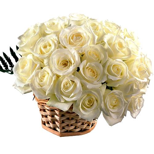 Mesmerizing Festival Greetings White Color Basket