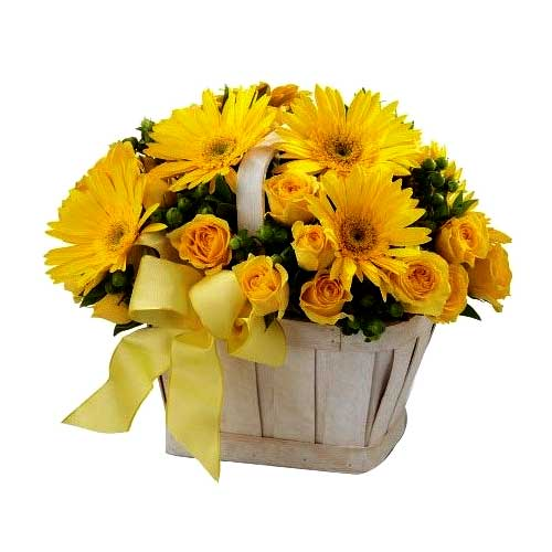 Charming Love is Forever Flower Gift Basket
