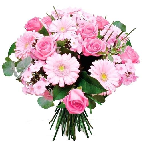 Brilliant Pink Shades Floral Beauty Bunch