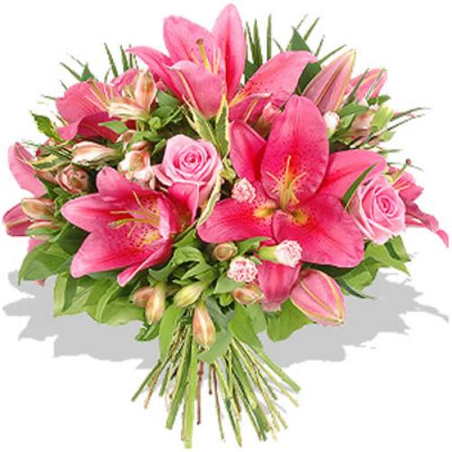 Clustered Endless Pink Fashion Bouquet