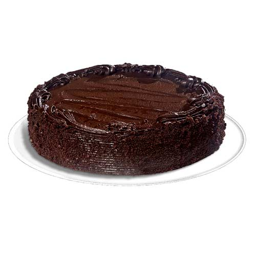 Confectionery Chocolaty Sacher Cake in Round Shape