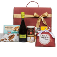 Vibrant Deluxe Experience Gift Basket of Assortments N Wine<br>