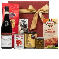 Creative Hamper of Assortments N a Bottle of Wine