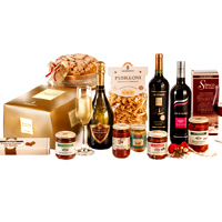 Welcoming Italian Wine N Snack Delight Gift Hamper<br>