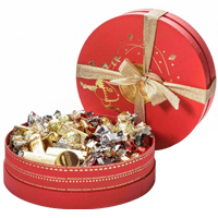 Tasty Everyones Delight Red Great Venchi Chocolates Hat Box<br>