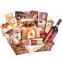 Amazing Grand Holiday Luxury Gift Hamper With Wine
