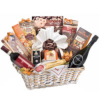 Gentle A sweet Treat with Wine Gift Basket