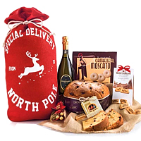 Enticing Gourmet Specialty Hamper with Wine