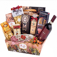 Exceptional Festive Gift Basket of Food Essentials