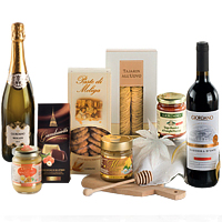 Festive Gift Hamper with Wine