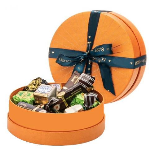 Attractive Hatbox Containing Venchi Chocolates