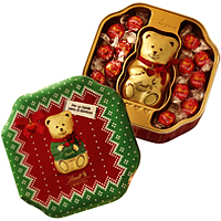 Tin Teddy Bear for Joyous Christmas