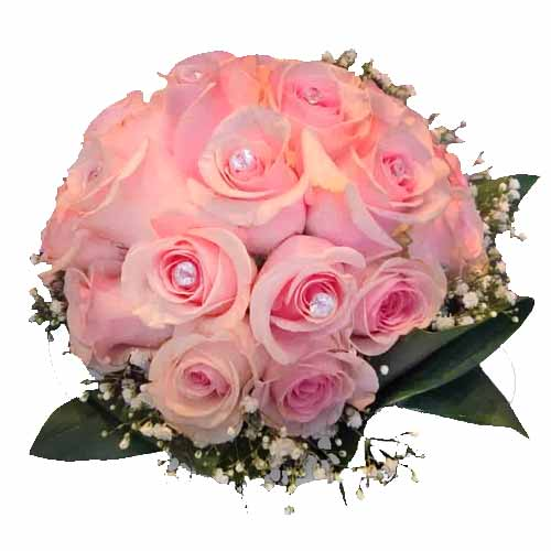V-Day Bliss Bouquet of Pink Roses