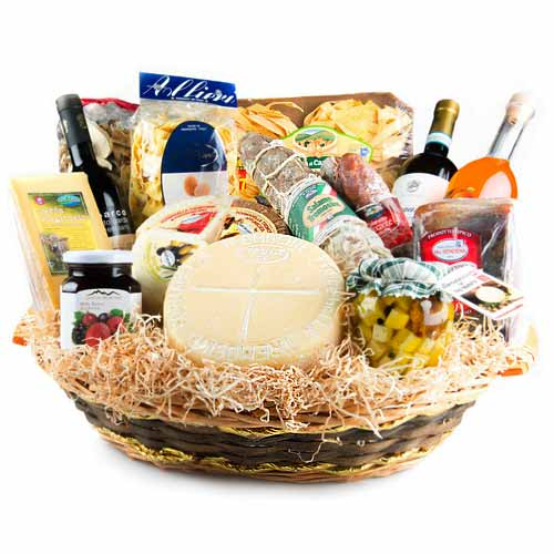 Magical Cheese N Wine Gift Basket